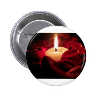 Candlelight and Roses 2 Inch Round Button
