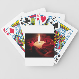 Candlelight and Roses Bicycle Playing Cards