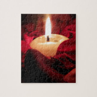Candlelight and Roses Jigsaw Puzzle