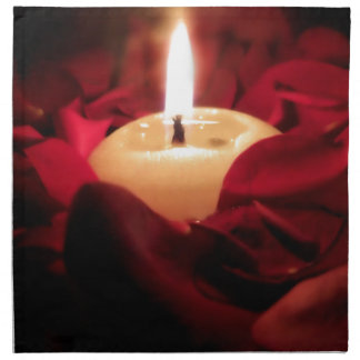 Candlelight and Roses Napkin