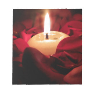 Candlelight and Roses Notepad