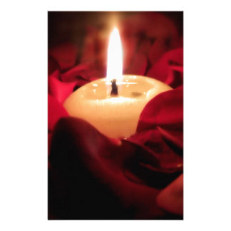 Candlelight and Roses Stationery