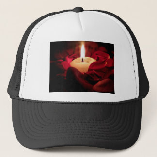 Candlelight and Roses Trucker Hat