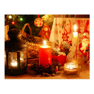 Candlelight at Christmas Postcard