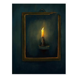Candlelight painting Postcard