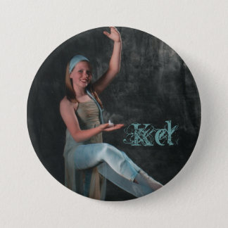 Candlelight Photo of Dancer 3 Inch Round Button
