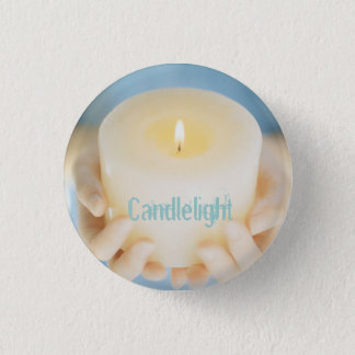 Candlelight Small 1 Inch Round Button