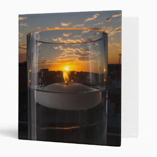 Candlelight Sunset 3 Ring Binders