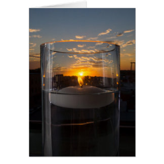 Candlelight Sunset Card
