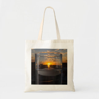 Candlelight Sunset Tote Bag