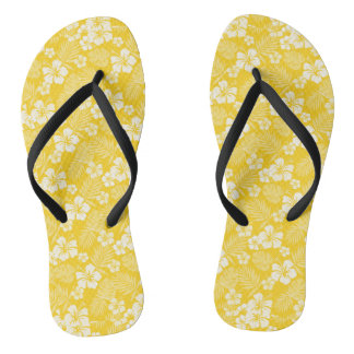 Candlelight Yellow Hawaiian Flip Flops