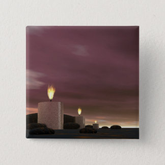 Candles - 3D render 2 Inch Square Button