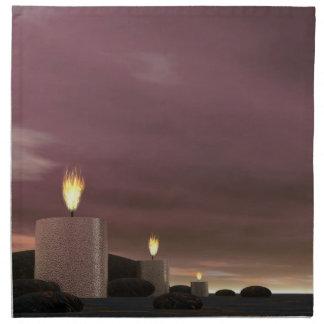 Candles - 3D render Napkin