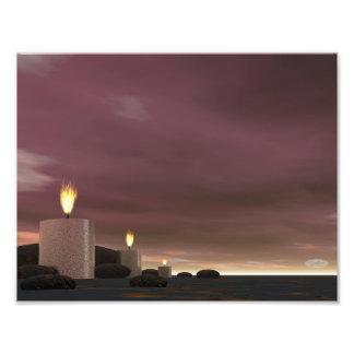 Candles - 3D render Photo Print