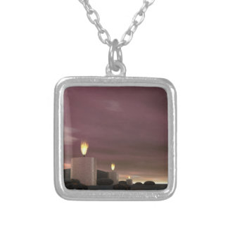 Candles - 3D render Silver Plated Necklace