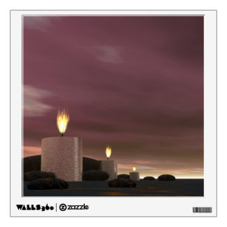 Candles - 3D render Wall Decal