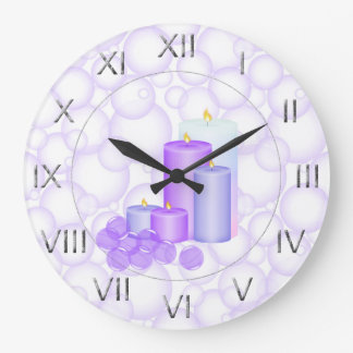 Candles and Bubbles Bathroom Wallclock