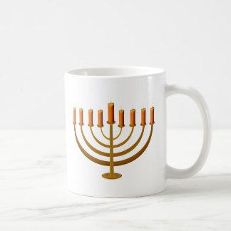 candles candleholder candlestick hanukkah jewish coffee mug