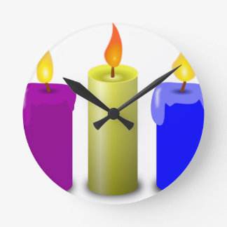 Candles Drawing Round Clock