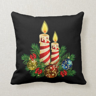 Candles for Christmas Throw Pillow