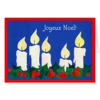 Candles French Christmas Card