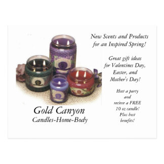 Candles, Gold Canyon, Candles-Home-Body, New Sc... Postcard