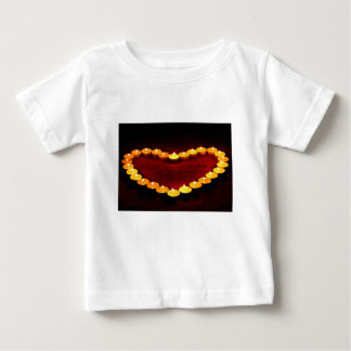 Candles Heart Flame Love Valentine Romance Fire Baby T-Shirt