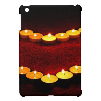 Candles Heart Flame Love Valentine Romance Fire Cover For The iPad Mini
