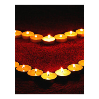 Candles Heart Flame Love Valentine Romance Fire Letterhead