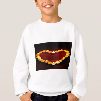 Candles Heart Flame Love Valentine Romance Fire Sweatshirt