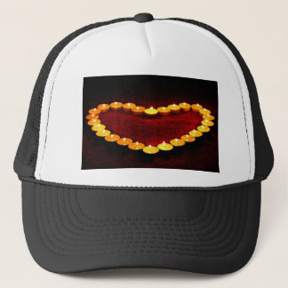 Candles Heart Flame Love Valentine Romance Fire Trucker Hat