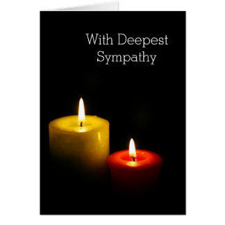 Candles in the dark - With Deepest sympathy Card