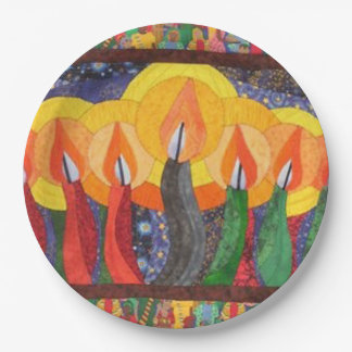 Candles In The Wind Kwanzaa Party Paper Plates 9 Inch Paper Plate