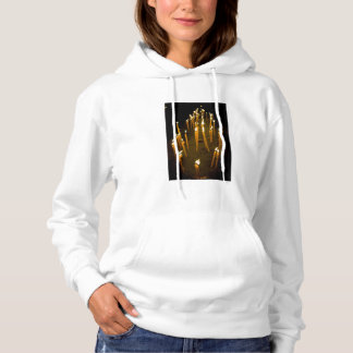 Candles lit in a church, Armenia Hoodie