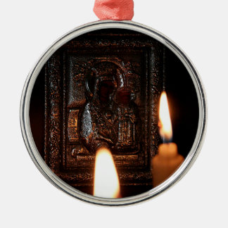 CANDLES OF HOPE Silver-Colored ROUND ORNAMENT