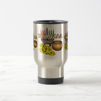 Candles of Kwanzaa - 15 Oz Stainless Steel Travel Mug
