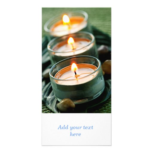 Candles Personalized Photo Card
