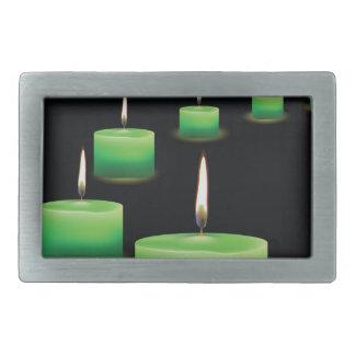candles rectangular belt buckle