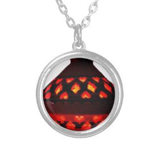 candlestick-tajine silver plated necklace