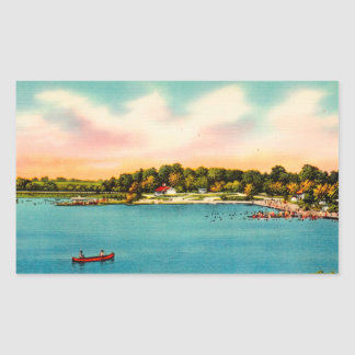 Candlewood Lake Bathing beaches Danbury, Conn Sticker
