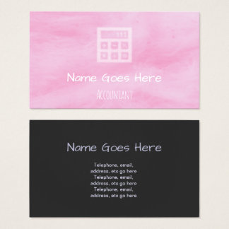 """Candy"" Accountant Business Cards"