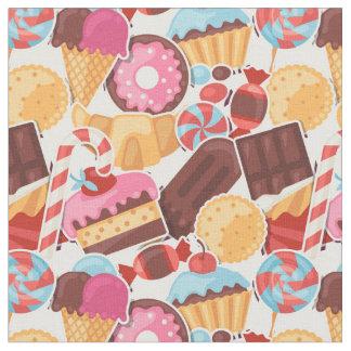 Candy and Pastries Palooza Seamless Pattern Fabric