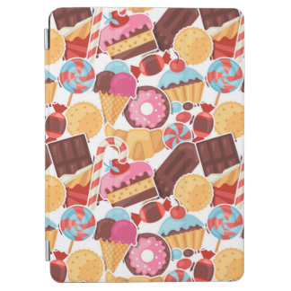 Candy and Pastries Palooza Seamless Pattern iPad Air Cover