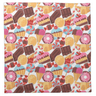 Candy and Pastries Palooza Seamless Pattern Napkin