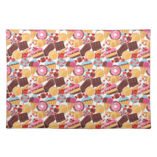 Candy and Pastries Palooza Seamless Pattern Placemat