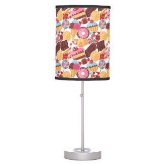 Candy and Pastries Palooza Seamless Pattern Table Lamp