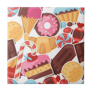 Candy and Pastries Palooza Seamless Pattern Tile