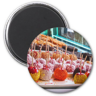 Candy Apples - Coney Island, NYC 2 Inch Round Magnet