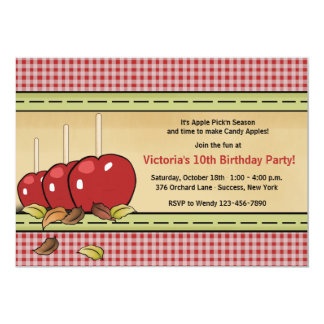 Candy Apples Invitation
