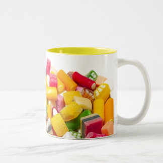 Candy Assortment Two-Tone Coffee Mug